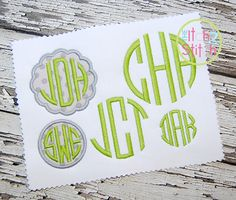 GOT THIS. Itch2Stitch. Natural Circle Monogram Embroidery Font