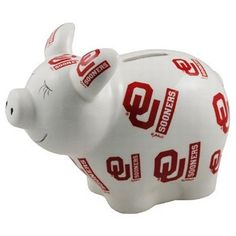 Oklahoma Sooners Piggy Bank :)