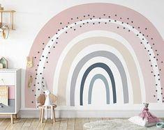 Wall Mural Decals, Wall Stickers Room, Wall Art, Kids Room Wall Decals, Rainbow Wall Decal, Rainbow Room, Big Girl Rooms, Nursery Room, Girls Bedroom
