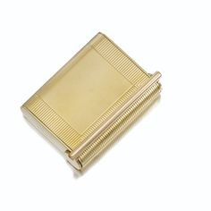 PROPERTY OF A GENTLEMAN GOLD CIGARETTE CASE, CARTIER, 1940 Of rectangular form, measurements approximately  88 x  68 x 18 mm, signed Cartier, London, British assay and maker's marks. Estimate  6,000 — 7,000 CHF  LOT SOLD. 6,250 CHF  (Hammer Price with Buyer's Premium)