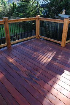 Red Balau Batu Hardwood Deck And Clear Cedar Privacy