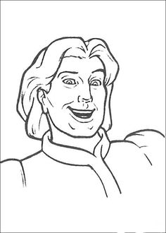 Shrek Kleurplaten voor kinderen. Kleurplaat en afdrukken tekenen nº 48