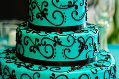 My wedding colors...Kinda wish my wedding cake looked like this. I dont regret what I had though :)