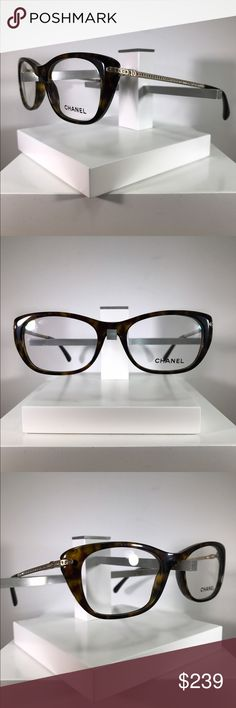 Chanel Eyewear Frames Brand new Chanel Eyewear Frames  Model:  3295-B Eyesize: 51 millimeters  Bridge Size: 17 millimeters  Temple Length: 135 millimeters  Color: Tortoise/Gold 100% authentic and comes with original case  Made in Italy!  Free eye exam with purchase of Frames and lenses! CHANEL Accessories Glasses