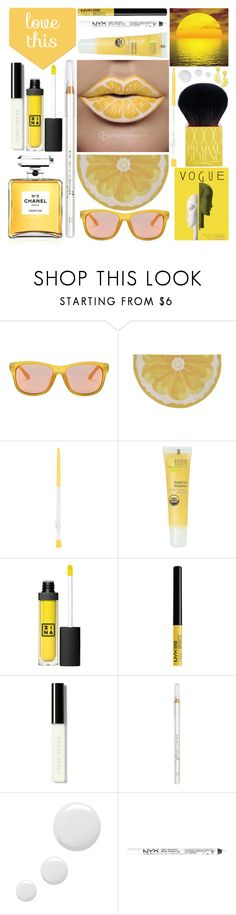 """""""Fruit Lips"""" by grozdana-v ❤ liked on Polyvore featuring beauty, Gucci, Prabal Gurung, Liora Manné, Juice Beauty, 3ina, Bobbi Brown Cosmetics, Barry M, Topshop and NYX"""