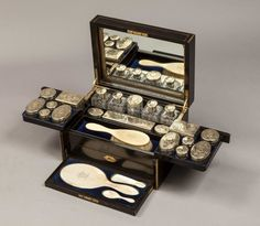 A Fine Ladies Victorian Antique Vanity Case ca. 1890 by Asprey - Not exactly an adornment as much as a necessary item for a lady with an extended travel itinerary.