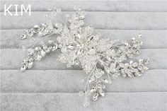 Korean new bride wedding headdress alloy rhinestone flower blossoming side comb hair accessories
