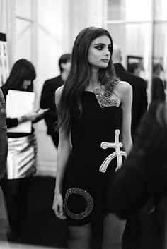 Backstage at Atelier Versace, Couture.