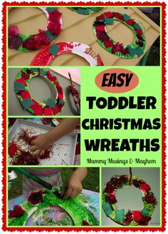 Easy and thrifty Christmas craft for toddlers...let them design their own creation to hang!