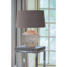 Table Lamp Base, Lamp Bases, Ceramic Table Lamps, Rustic Wood, Bulb, Lights, Ceramics, Antiques, Grey