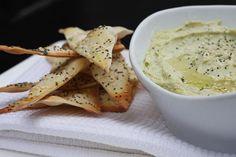 Lavosh Crackers & Edamame Hummus