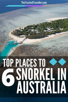 A bird's eye view of Heron Island - Top 6 Places To Snorkel In Australia - The Trusted Traveller