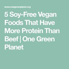 5 Soy-Free Vegan Foods That Have More Protein Than Beef | One Green Planet