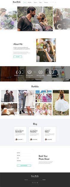 Susan Parker - #lovestory  #photographer  Multipage #html5  #website  #template