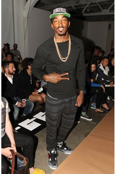 J.R Smith formerly of the New York Knicks as he's now a Cleveland Cavalier in black.