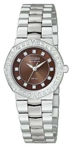 Amazon.com: Citizen Women's EP5830-56X Eco-Drive Serano Stainless Steel Watch: Watches