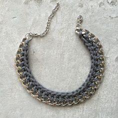 Statementkette Silber Grau von herzgemacht ♥ auf DaWanda.com