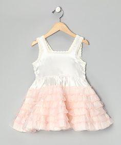 Pink & White Ruffle Dress - Girls   zulily
