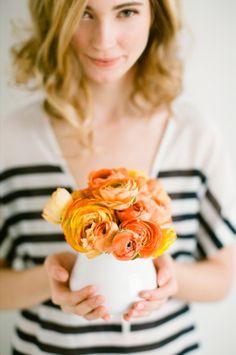 Super-cute arrangement | photography by lauraivanova | floral design by munsterrose