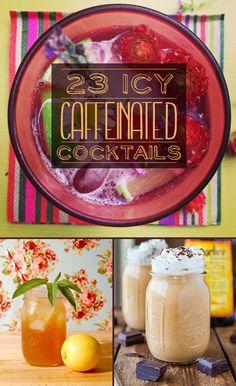 23 Icy Caffeinated Cocktails #whami #partyfinder #cocktails #smoothies