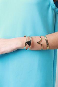 Marble Stone Cuff Bracelet Set – Label of CC $33.00