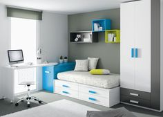 1000 images about alcoba on pinterest mesas teen boy - Dormitorios juveniles espacios pequenos ...