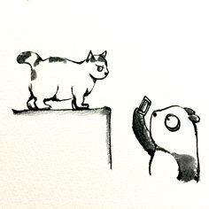 【一日一大熊猫】 2015.5.26 猫は色々な所で見かけるけど ついついカメラで撮影してしまう 人が多いよね。 猫人気は確立されてるね。 #猫 #pandaJP http://osaru-panda.jimdo.com