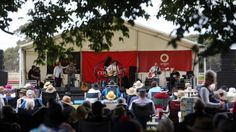 Trees offer lovely cover at the Terang Country Music Festival.