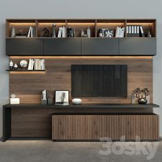 Built In Tv Wall Unit, Built In Tv Cabinet, Modern Tv Wall Units, Modern Tv Room, Wall Cabinets Living Room, Tv Wall Cabinets, Tv Wall Shelves, Cupboard Design, Tv Cabinet Design Modern