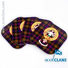 Murray Clan Crest Coaster Pack