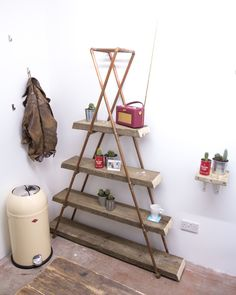Industrial Copper Pipe Reclaimed Wood Triangle Geometric Shelves in Home, Furniture & DIY, Furniture, Bookcases, Shelving & Storage Copper Furniture, Reclaimed Furniture, Pipe Furniture, Furniture Projects, Furniture Design, Diy Projects, Geometric Furniture, Copper Pipe Shelves, Diy Pipe Shelves