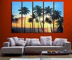 Barato 5118 pintado à mão 5 peça moderna paisagem pintura a óleo sobre tela praia e palmeira parede imagem para sala de estar, Compro Qualidade Pintura & caligrafia diretamente de fornecedores da China:        Transformar suas fotos em belas pinturas sobre tela            Nós podemos personalizar o seu fim, retrato