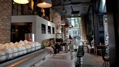 E S P R I T, Café, Amsterdam,Holland,pinned by Ton van der Veer