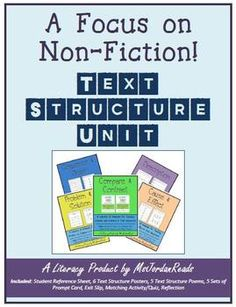 The Non-Fiction Text Structure BUNDLE is finally here! Collect all five to build up your classroom toolbox of non-fiction resources! $10.00