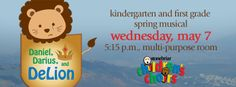 Join us for the kindergarten and first grade spring musical on Wednesday, May 7 at 5:15 p.m. Share the event.