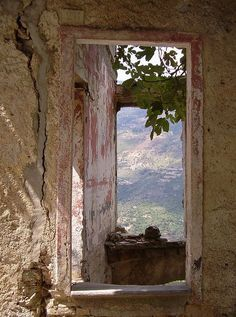 Gairo, Sardinia, Italy - Through the window