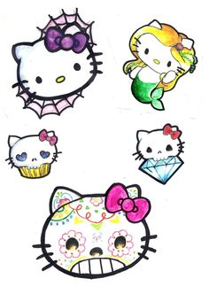 And AGAIN Hello Kitty Flash. Maybe for sleeve dunno yet. If you get this tattooed SEND ME PICS! And link to page if posted. Hello Kitty Drawing, Hello Kitty Art, Hello Kitty Items, Hello Kitty Birthday, Feminine Tattoo Sleeves, Hello Kitty Tattoos, Frog Drawing, Wonderful Day, Dope Cartoon Art