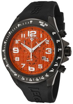 Price:$139.99 #watches SWISS LEGEND 30041-BB-06, With a detailed facade displaying multi-functional subdials, this Swiss Legend chronograph is style built with precision.