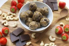 Healthified cookie dough bliss balls