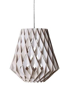 the interiors look: geometric Credit: Guardian Pike 36 pendant light, Credit: Guardian Pike 36 pendant light, Karton Design, Luminaria Diy, Cardboard Design, Modern Lighting Design, Paper Light, Cardboard Furniture, Wooden Lamp, Lamp Design, Modern Interior