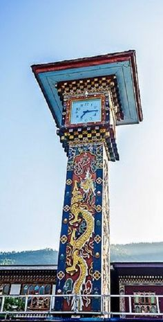 Landmark of Thimphu City, Clock Tower Autor fotografie: Shutter Shooter; zdroj: Flickr