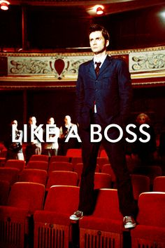 Being awesome, amazing, and oh so good looking ... like a boss. #doctorwho #thedoctor #davidtennant