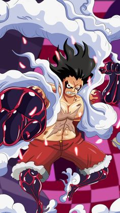 Artwork, one piece, Monkey D. Luffy, wallpaper – Monkey D Luffy One Piece Manga, One Piece Gif, One Piece Series, One Piece Drawing, One Piece Images, One Piece Fanart, Luffy Gear Fourth, Luffy Gear 4, One Piece Gear 4