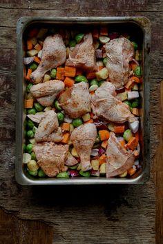 Ovnsbakt kylling og grønnsaker - Mat På Bordet Kung Pao Chicken, Food And Drink, Ethnic Recipes