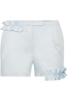 Paskal   Ruffle-trimmed stretch-cotton poplin shorts   NET-A-PORTER.COM