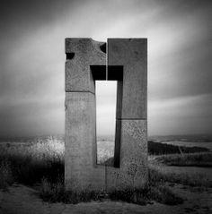 darkgreycherry:  The Gate  Black and White