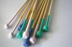 For the knitter who loves colorful things: hand-painted knitting needles. #EtsyAustralia