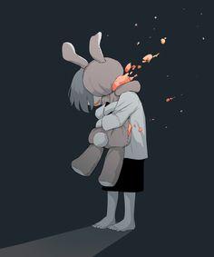 """アボガド6 on Twitter: """"だいすき… """" Sad Anime, Kawaii Anime, Anime Art, Dark Art Illustrations, Illustration Art, Image Triste, Gijinka Pokemon, Sun Projects, Sad Drawings"""