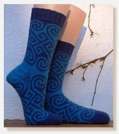 Long Spiral Socks