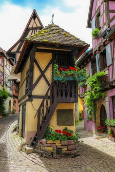 The Dovecote, Eguisheim, Alsace, France Places Around The World, The Places Youll Go, Places To Go, Around The Worlds, Beautiful World, Beautiful Places, Belle Villa, Beautiful Buildings, France Travel